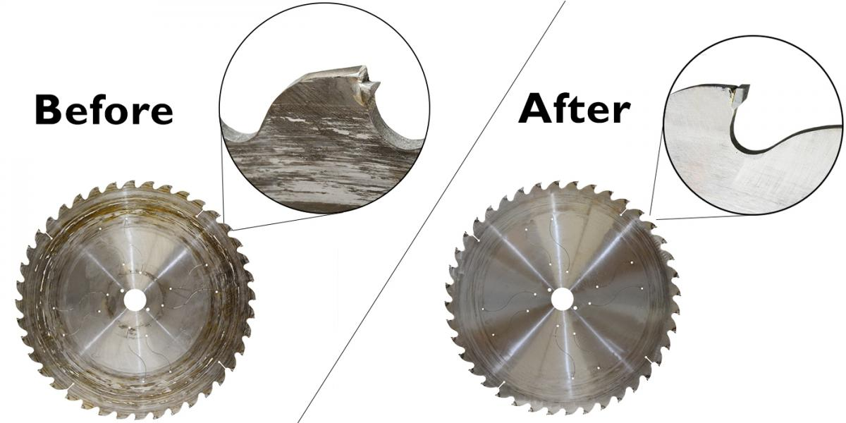 Dynashape saw blade sharpening service - from the west midlands and